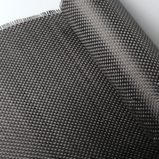 6K 320g/m2 Plain Carbon Fiber Woven Fabric Carbon Yarn Weave Cloth