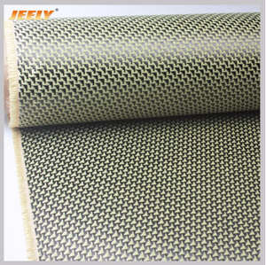 Surface Coating 3K 260gsm Carbon Fiber with 1500D aramid Woven Reinforce Cloth Plain Pattern