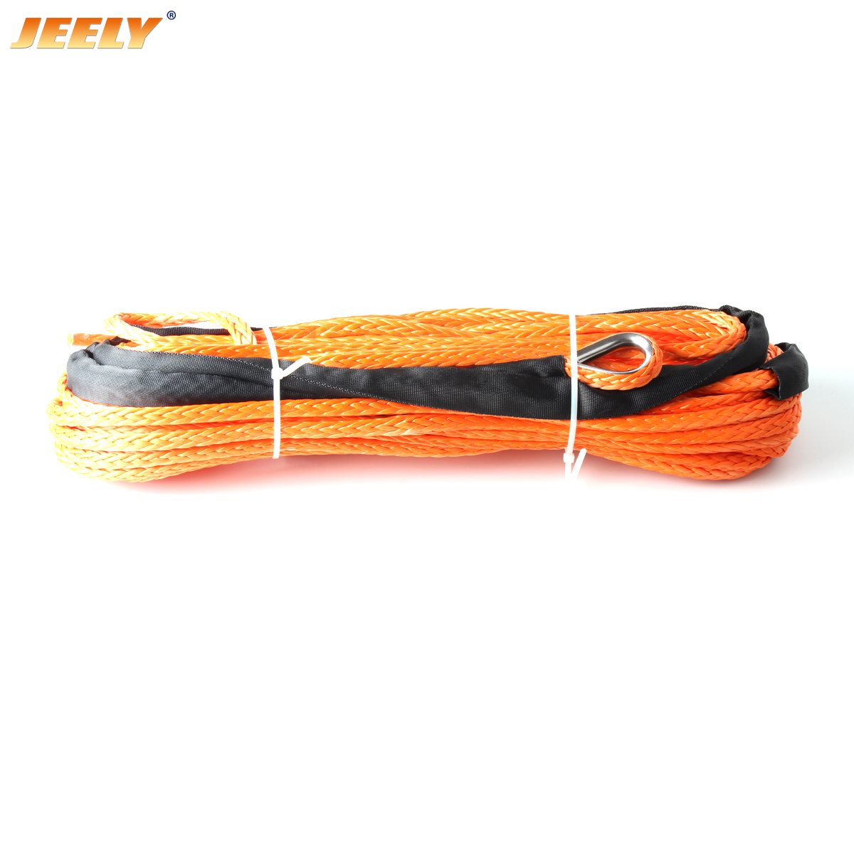 13MM*40M UHMWPE Synthetic Winch Towing Rope With Thimble For Truck