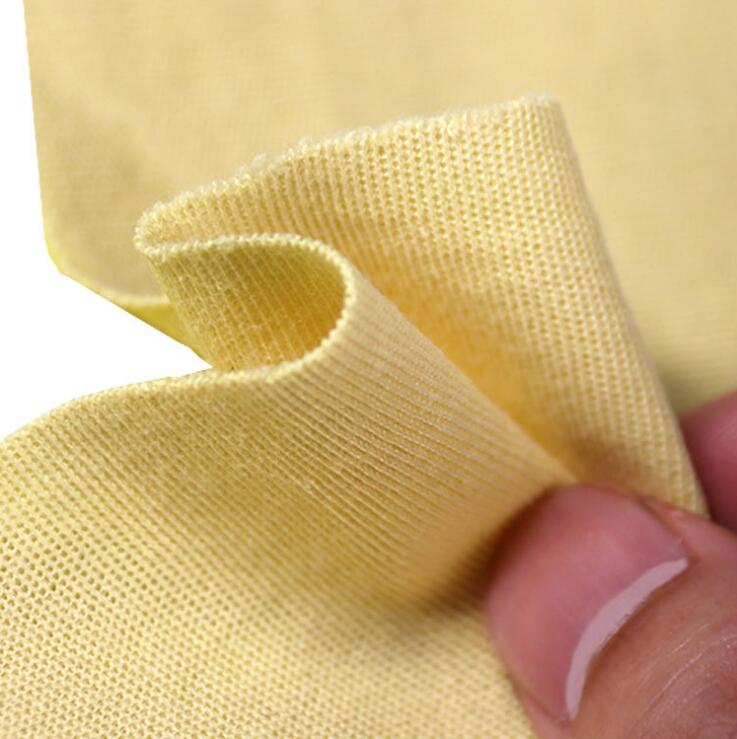 Anti cut fireproof knitted aramid fabric