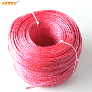 "16mm 5/8"" 100m UHMWPE Towing Winch Rope 12strands Braided"