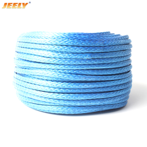 "18mm 3/4"" 200m UHMWPE Towing Winch Rope 12strands Braided"