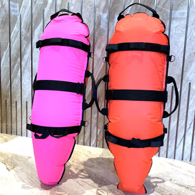 Inflatable marker buoy for spearfishing diving
