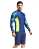 Diving sun suit quick drying suit men UPF 50+ Long Sleeve Splice UV Sun Protection Basic Skins Surfing Diving Swimming T Shirt