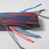 uhmwpe fiber 4 line(1red in 400kg,1blue in 400kg,2gray in 400kg) x 25m kitesurfing line set end looped