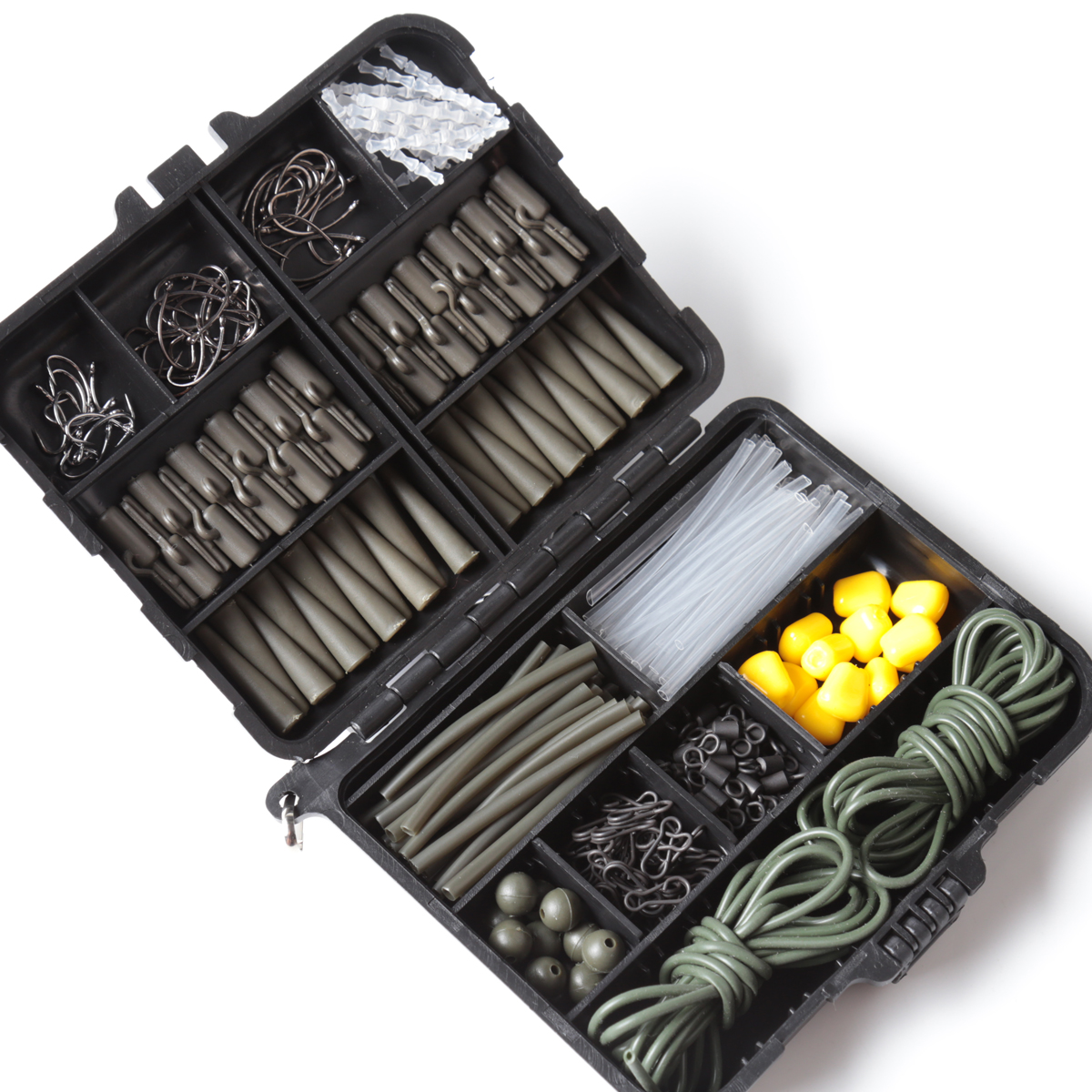 Carp Fishing Terminal Tackle Set Beads Lead Clips Hooks Rolling Swivels