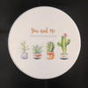 10cm*10cm Customization Color printing Diatomite Bath Mat diatomite tea cup coaster